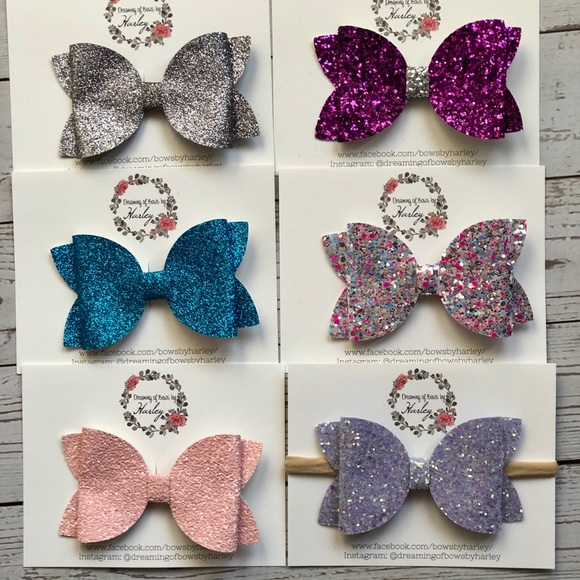 Dreaming of Bows by Harley Other - Large Glitter Hairbow
